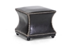 Wholesale Interiors Baxton Studio Ellastone Dark Brown Modern Leather Ottoman