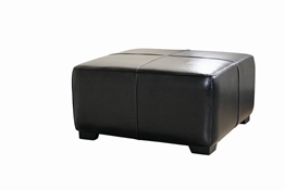 Baxton Studio Black Full Leather Square Ottoman Footstool Black Full Leather Square Ottoman Footstool wholesale, wholesale furniture, restaurant furniture, hotel furniture, commercial furniture