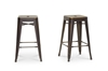 Wholesale Interiors Baxton Studio French Industrial Modern Counter Stool in Antique Copper (Set of 2)