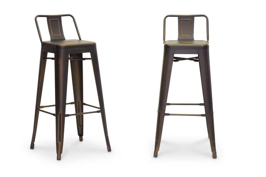 French Industrial Modern Bar Stool in Antique Copper  : M 94115X 30AC BS from www.wholesale-interiors.com size 575 x 382 jpeg 61kB