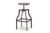 Wholesale Interiors Baxton Studio Architect's Industrial Bar Stool in Antiqued Copper