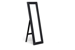 Baxton Studio McLean Dark Brown Modern Mirror with Built-In Stand McLean Dark Brown Modern Mirror with Built-In Stand wholesale, wholesale furniture, restaurant furniture, hotel furniture, commercial furniture