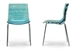 Baxton Studio Marisse Blue Plastic Modern Dining Chair (Set of 2) - PC-840-Blue