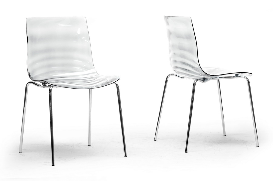 Beau Baxton Studio Marisse Clear Plastic Modern Dining Chair (Set Of 2)   PC  ...