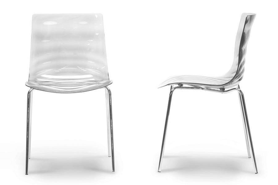 ... Baxton Studio Marisse Clear Plastic Modern Dining Chair (Set Of 2)    PC  ...