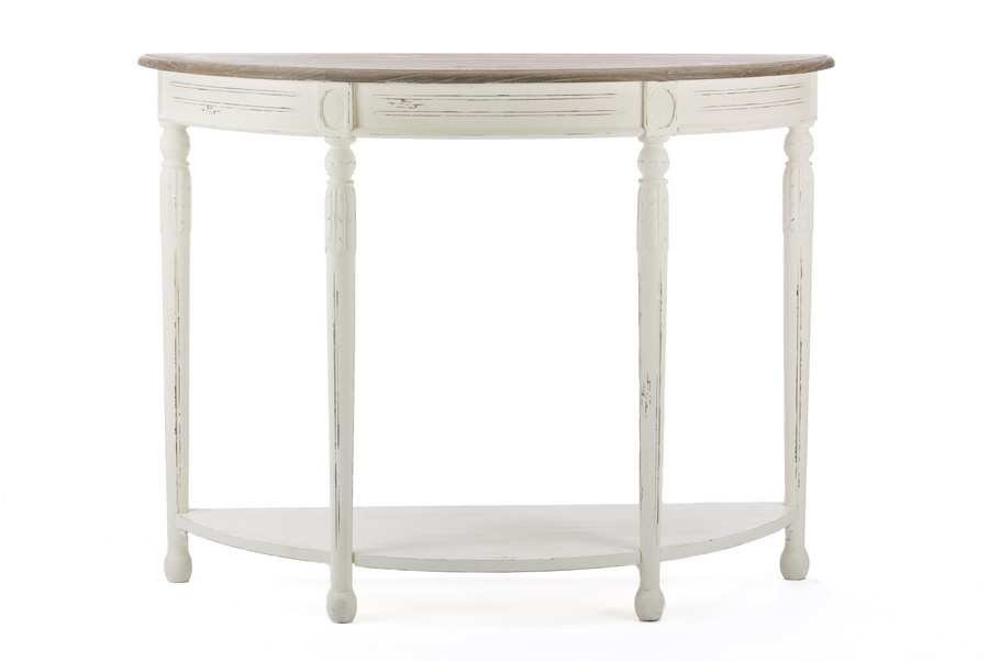 Baxton Studiovologne Traditional White Wood French Console
