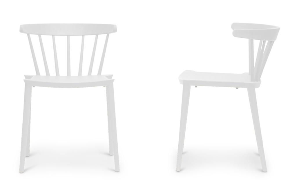 Baxton Studio Finchum White Plastic Stackable Modern