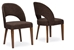 Baxton Studio Lucas Mid-Century Style Brown Fabric  Dining Chair (Set of 2) - RT323-CHR