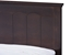 Baxton Studio Schiuma Cappuccino Wood Contemporary Twin-Size Bed - SB338-Twin Bed-Cappuccino