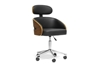 Wholesale Interiors Baxton Studio Kneppe Black Modern Office Chair