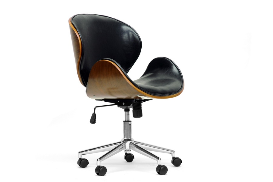 Baxton Studio Bruce Walnut And Black Modern Office Chair Sdm 2240 5