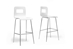 Baxton Studio Greta White Modern Bar Stool (Set of 2) - SDM2255-7-White-BS