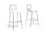 Wholesale Interiors Baxton Studio Greta White Modern Bar Stool (Set of 2)