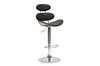 Wholesale Interiors Baxton Studio Modana Walnut and Black Modern Bar Stool