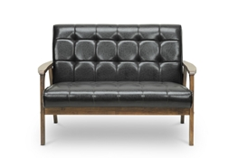 Baxton Studio Mid-Century Masterpieces Loveseat-Brown Baxton Studio Mid-Century Masterpieces Loveseat-Brown, wholesale furniture, restaurant furniture, hotel furniture, commercial furniture