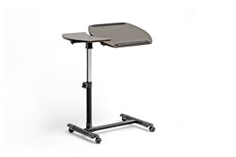 Baxton Studio Olsen Brown Wheeled Laptop Tray Table with Tilt Control Olsen Brown Wheeled Laptop Tray Table with Tilt Control, wholesale furniture, restaurant furniture, hotel furniture, commercial furniture