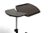 Baxton Studio Olsen Brown Wheeled Laptop Tray Table with Tilt Control - AA-10T-1(wenge)-desk