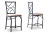 Wholesale Interiors Baxton Studio Valletta Wood and Metal Transitional Stool (Set of 2)