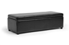 Wholesale Interiors Baxton Studio Dennehy Dark Brown Modern Ottoman