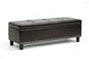 Wholesale Interiors Baxton Studio Lucero Dark Brown Modern Ottoman