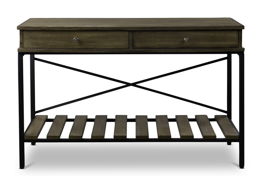 Super Baxton Studionewcastle Wood And Metal Console Table Criss Spiritservingveterans Wood Chair Design Ideas Spiritservingveteransorg