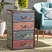 Baxton Studio Amandine Vintage Rustic French Inspired Multicolor Finished Wood 4-Drawer Accent Storage Chest - SJ14512-Multi-4DW-Chest