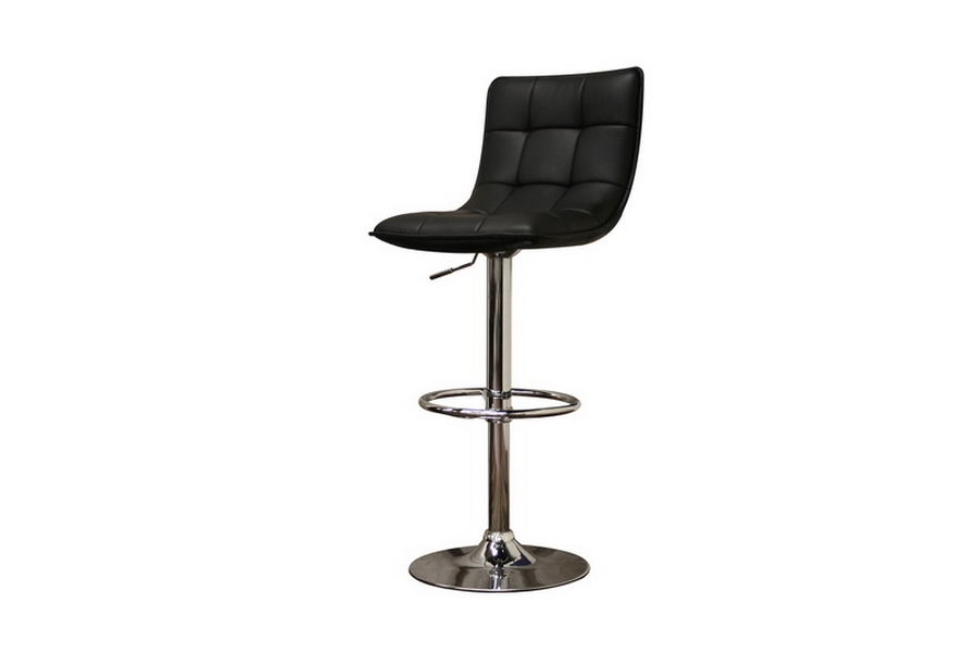 Barstool Aleena Black Faux Leather - Set of 2