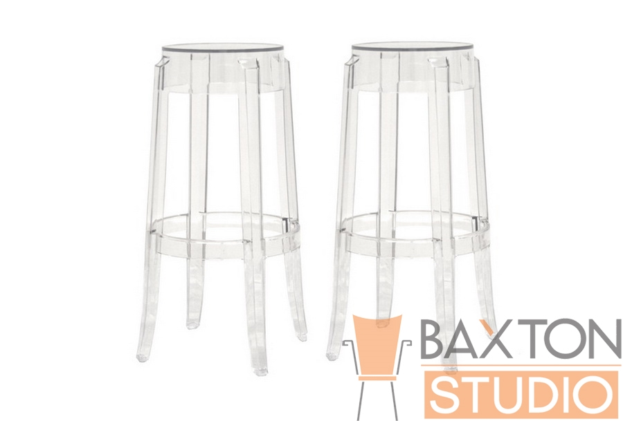 Barstool Bettino Acrylic PC-502A-clear Set of 2