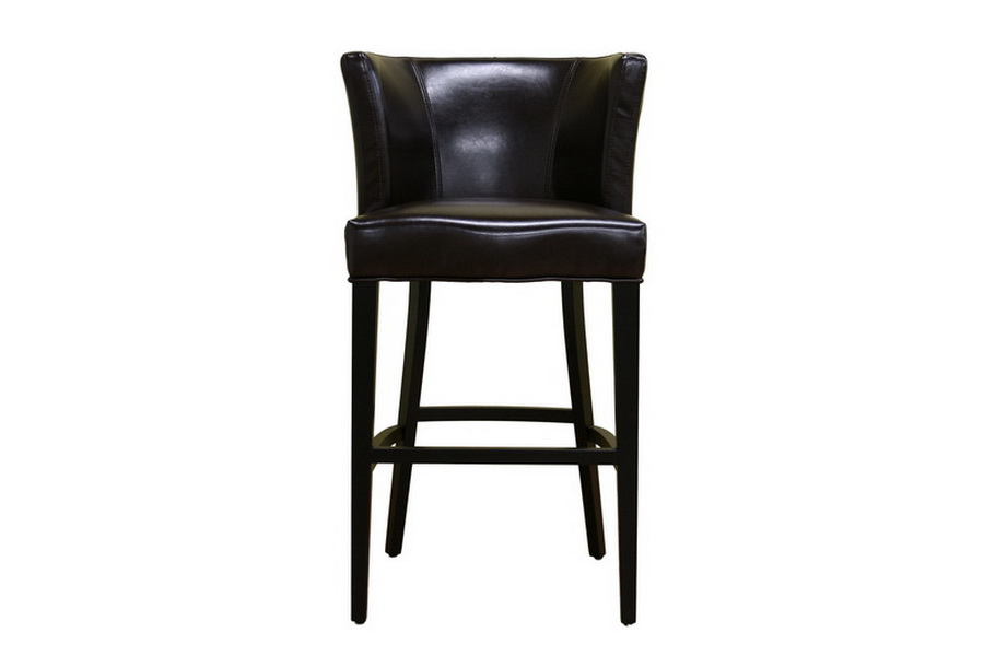 Barstool Cleto Dark Brown Leather Y-770-Brown
