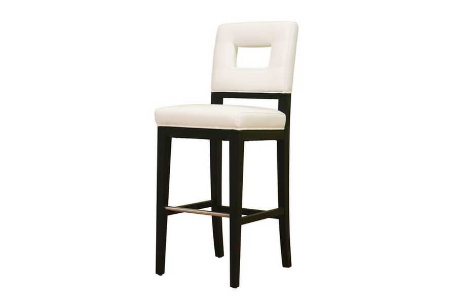 Barstool Faustino White Leather Y-780-155