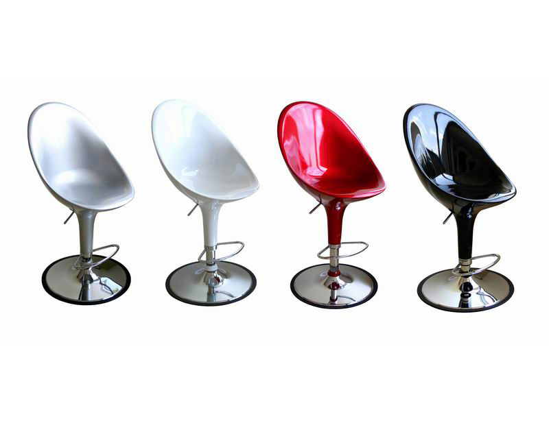 Barstool A190-black-red-silver-white