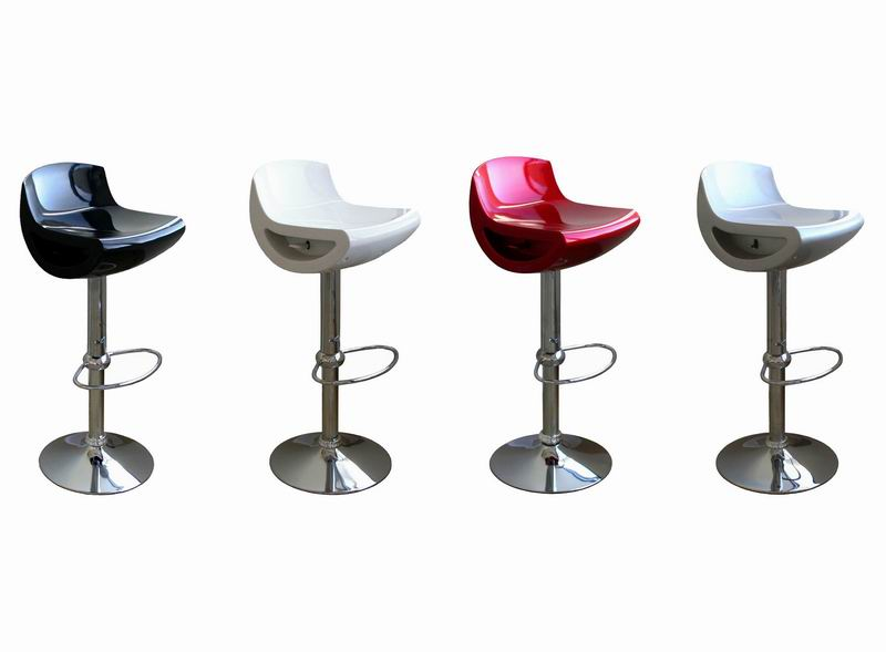 Barstool A197-black-red-silver-white
