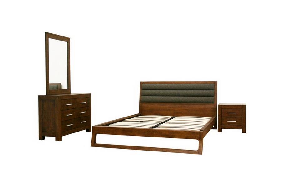 Ceni Brown Queen 4 Piece Modern Bedroom Set
