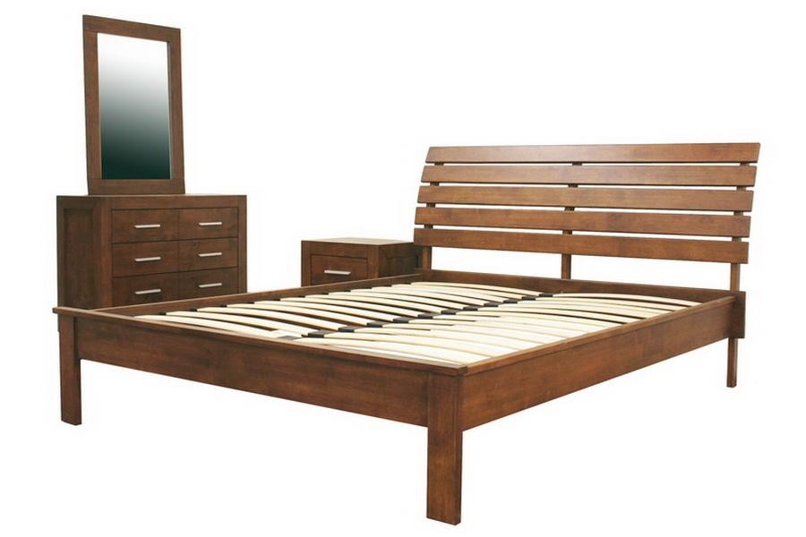 Robbin Brown Queen 4 Piece Modern Bedroom Set