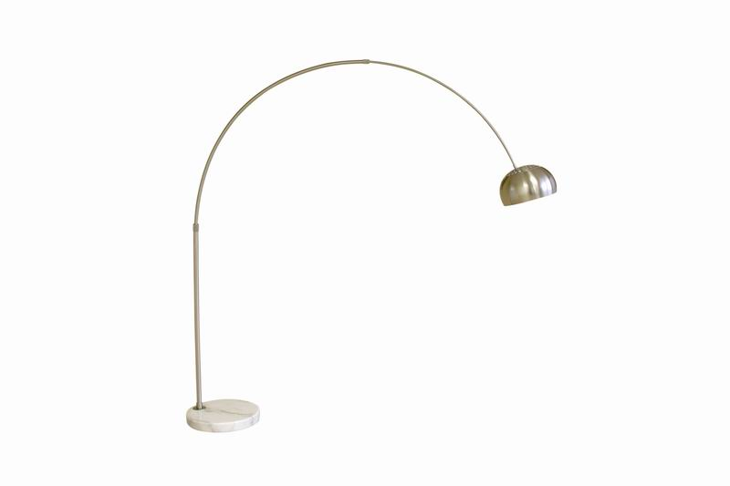Arco Style Floor Lamp White Round/Flat Marble Base