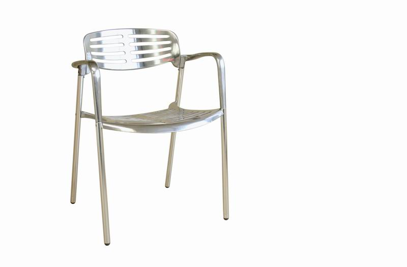Ethan Contemporary Aluminum Accent Chair