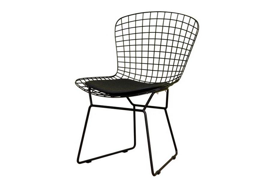 Bertoia Black Style Wire Side Chair