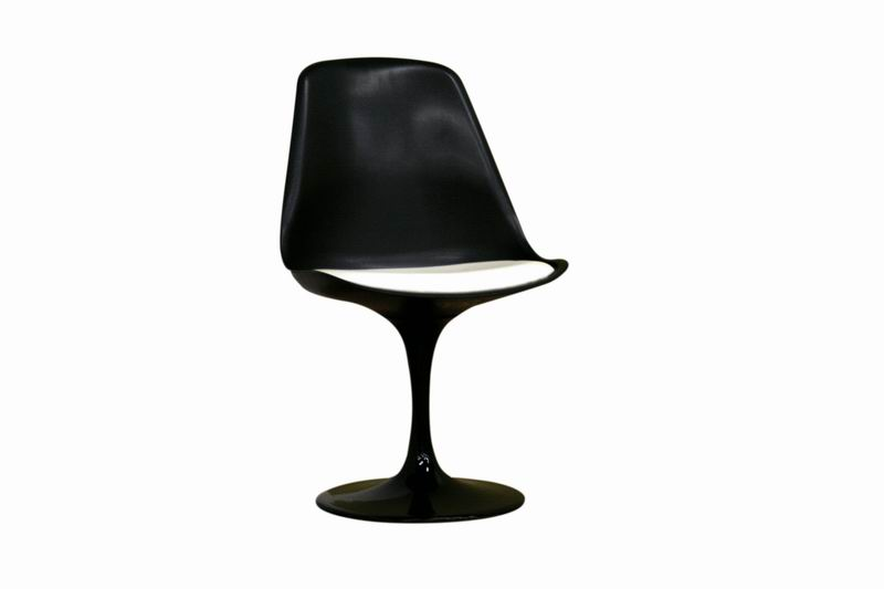 Plastic Side Chair BLACK - WHITE