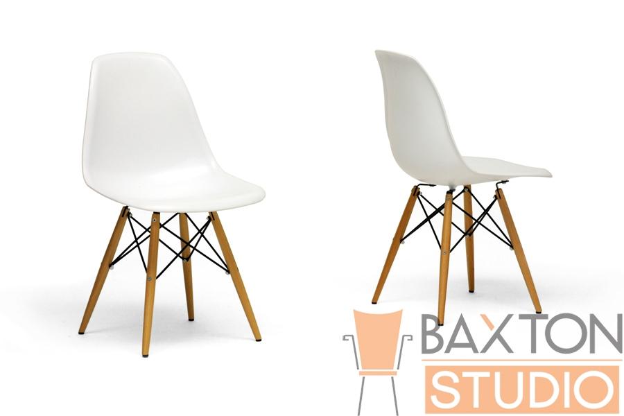 AZZO Plastic Side Chair Set of 2