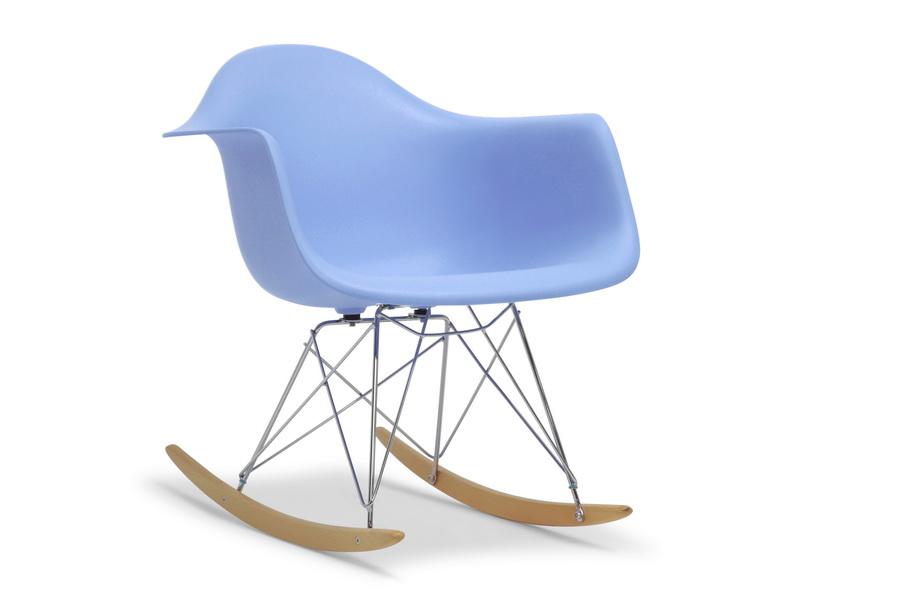 Blue - White Plastic Rocking Chair