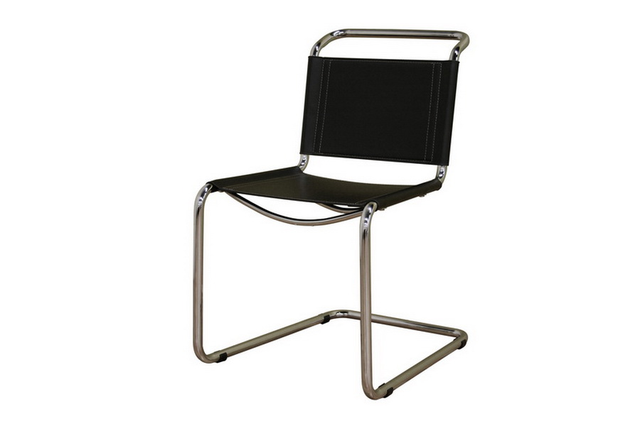 Zale Black Leather Chair
