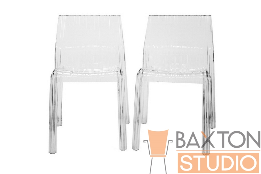 Charo Acrylic Clear Chair Set of 2