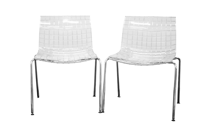 Obbligato Transparent Clear Acrylic Accent Chair (Set of 2)