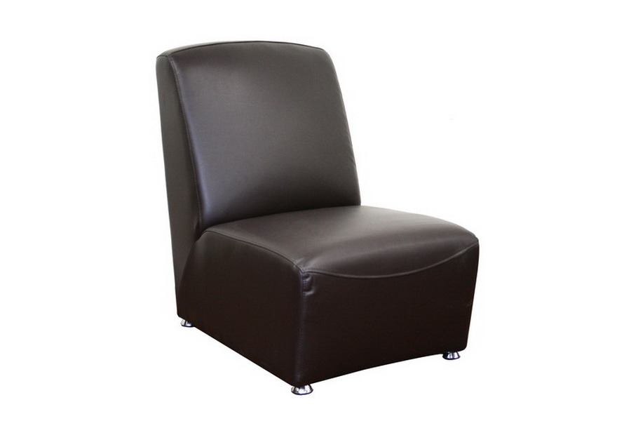 Galicia Brown Leather Slipper Style Club Chair