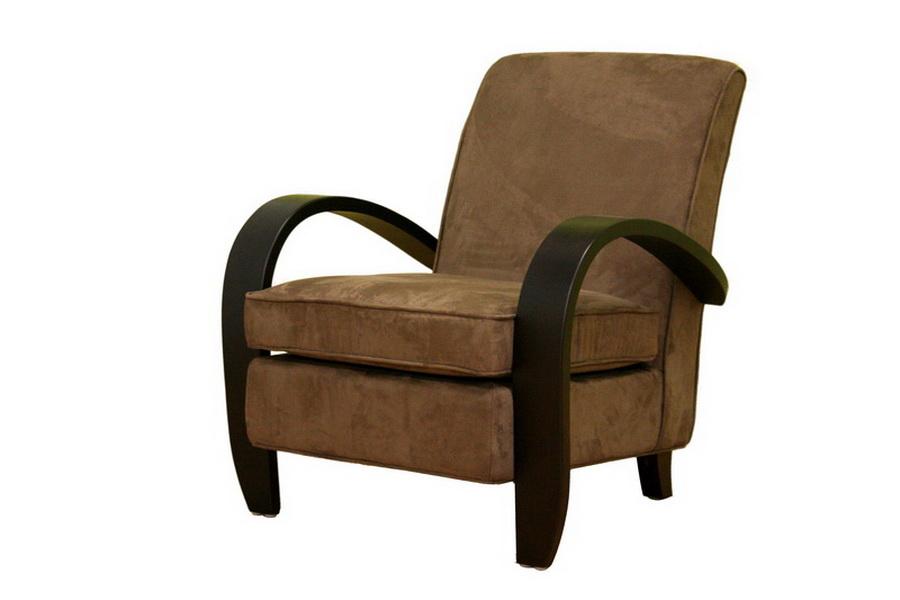 Brown Microfiber Club Arm Chair