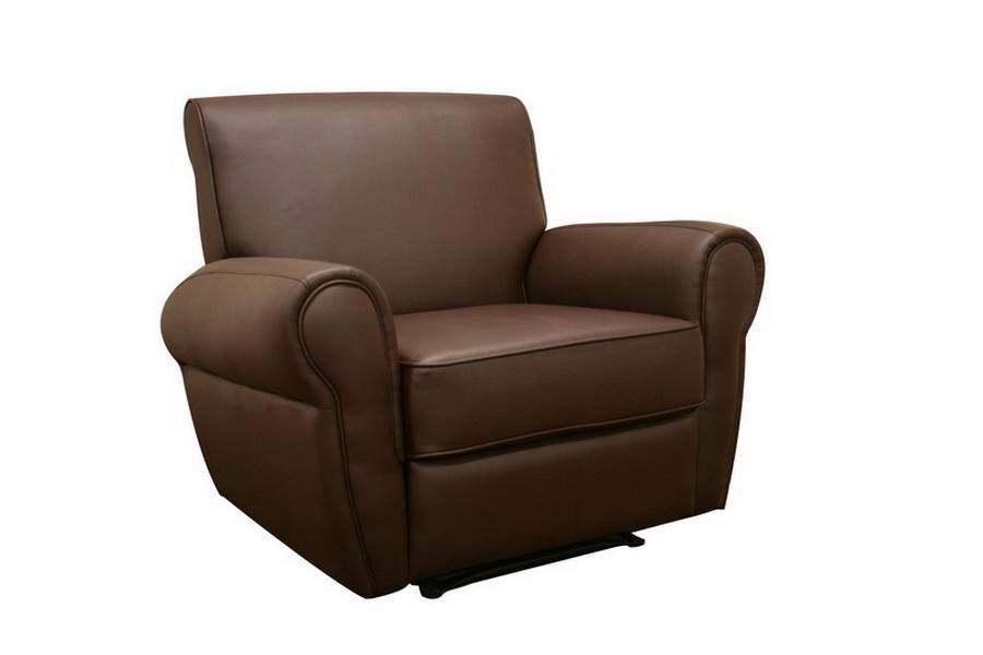 Clayford Dark Brown Faux Leather Modern Recliner