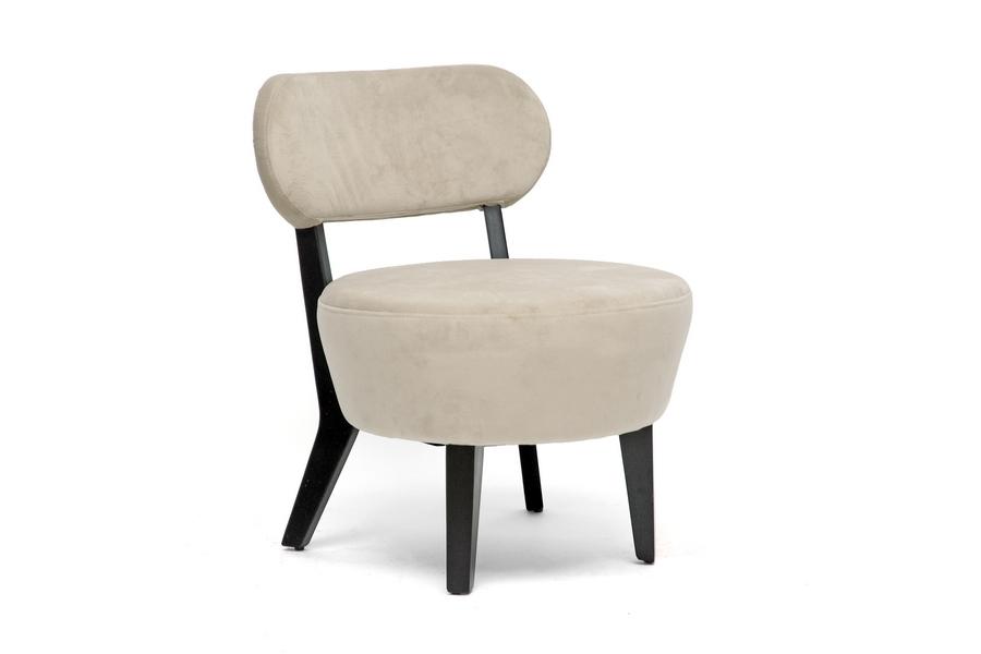 Nyala Beige Microfiber Modern Club Chair