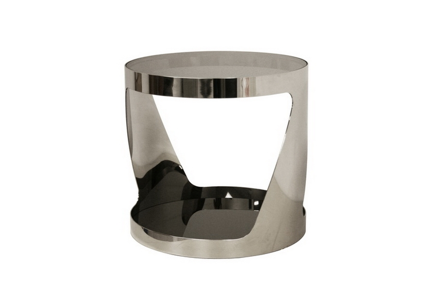 Genesis Steel and Tinted Glass Modern End Table