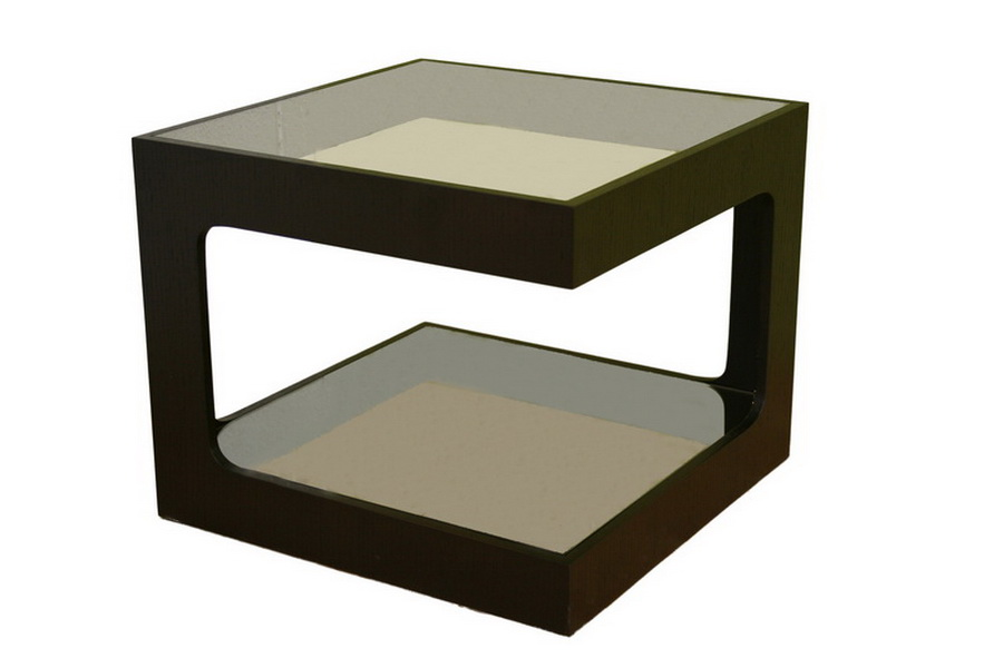 Clara Glass Square Side Table