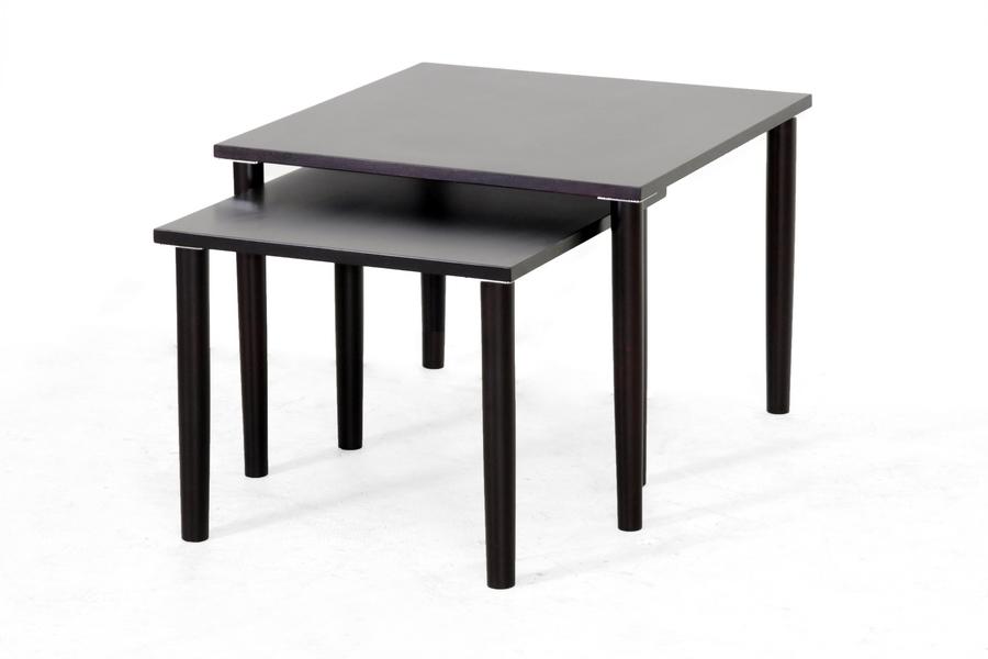 Shaffer Dark Brown Modern Nesting Table Set